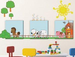 Φάρμα Παιδικά Πίνακες και αυτοκόλλητα 125×45
