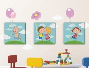 Παιδάκια Παιδικά Πίνακες και αυτοκόλλητα 129×58