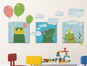 Βατραχάκια Παιδικά Πίνακες και αυτοκόλλητα 119×64