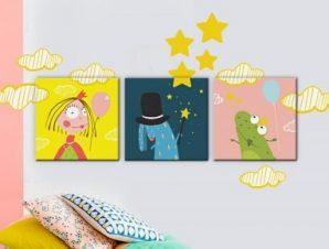 Η νεράιδα και ο βάτραχος Παιδικά Πίνακες και αυτοκόλλητα 136×43