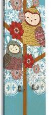 Κουκουβάγιες με έντονα χρώματα Παιδικά Κρεμάστρες & Καλόγεροι 45 x 138 εκ.