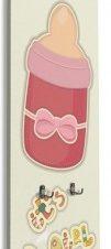 Μπιμπερό για κοριτσάκι Παιδικά Κρεμάστρες & Καλόγεροι 45 x 138 εκ.