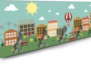 Μικρή χαρούμενη πόλη Παιδικά Κρεμάστρες & Καλόγεροι 138 x 45 εκ.