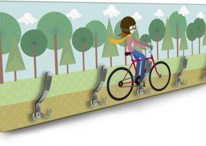 Κορίτσι με Ποδήλατο Παιδικά Κρεμάστρες & Καλόγεροι 138 x 45 εκ.