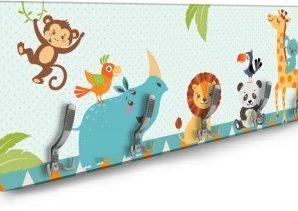 Ζώα Της Ζούγκλας Παιδικά Κρεμάστρες & Καλόγεροι 138 x 45 εκ.