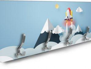 Space rocket Παιδικά Κρεμάστρες & Καλόγεροι 138 x 45 εκ.