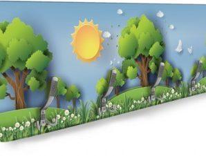 Δάσος το πρωί Παιδικά Κρεμάστρες & Καλόγεροι 138 x 45 εκ.