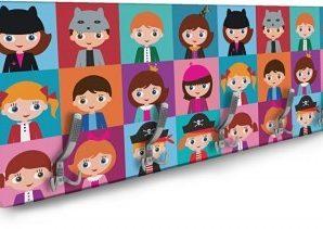 Παιδικό μοτίβο Παιδικά Κρεμάστρες & Καλόγεροι 138 x 45 εκ.