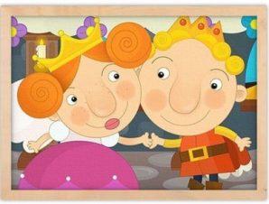 Βασιλιάς και βασίλισσα Παιδικά Πίνακες σε καμβά 30 x 20 εκ.