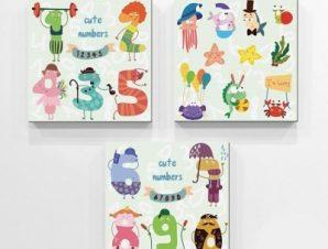123… Παιδικά Mini Set καμβάς 25 x 25 εκ.