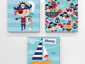 Πειρατές Παιδικά Mini Set καμβάς 25 x 25 cm