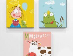 Η νεράιδα και ο βάτραχος Παιδικά Mini Set καμβάς 25 x 25 cm