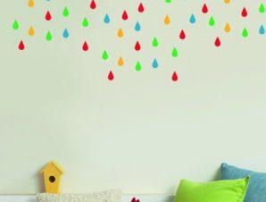Σταγόνες βροχής Παιδικά Mini Pack αυτοκόλλητα 61x31cm