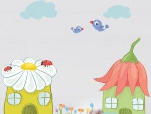 Λουλουδοχώρα Παιδικά Mini Pack αυτοκόλλητα 100×114 cm