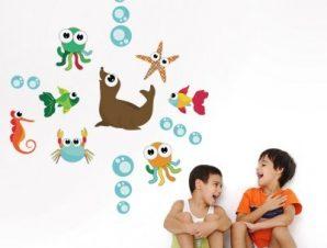 Ο βυθός της θάλασσας Παιδικά Mini Pack αυτοκόλλητα 100×100 cm