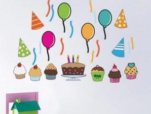 Πάρτυ Παιδικά Mini Pack αυτοκόλλητα 100×100 cm
