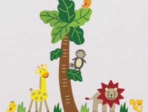 Zώα της ζούγκλας Παιδικά Mini Pack αυτοκόλλητα 100×100 cm