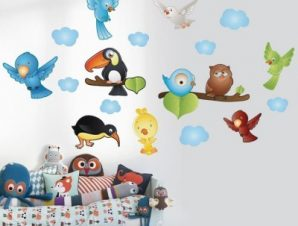 Πουλιά Παιδικά Mini Pack αυτοκόλλητα 100X100