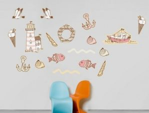 Καλοκαιρινές διάκοπες Παιδικά Mini Pack αυτοκόλλητα 100×100 cm