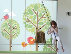 Πάρκο Παιδικά Αυτοκόλλητα ντουλάπας 100 x 100 εκ.