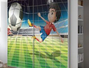 Γήπεδο ποδοσφαίρου Παιδικά Αυτοκόλλητα ντουλάπας 100 x 100 εκ.