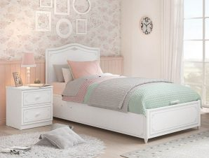 Παιδικό κρεβάτι με αποθηκευτικό χώρο SE-GREY-1705 – SE-GREY-1705