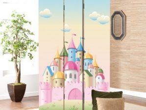 Ροζ Παλάτι Παιδικά Παραβάν 80 x 180 εκ. [Δίφυλλο]