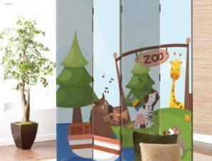 Ζωολογικός Κήπος Παιδικά Παραβάν 80 x 180 εκ. [Δίφυλλο]