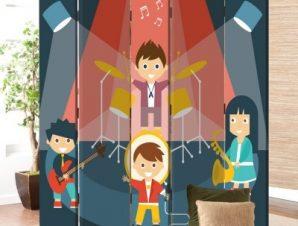 Μουσική συναυλία Παιδικά Παραβάν 80 x 180 εκ. [Δίφυλλο]