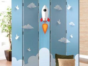 Πύραυλος Παιδικά Παραβάν 80 x 180 εκ. [Δίφυλλο]