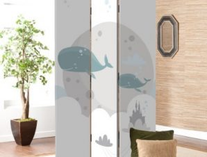 Φάλαινες Παιδικά Παραβάν 80×180 cm [Δίφυλλο]