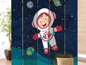 Μικρός Αστροναύτης Παιδικά Παραβάν 80×180 cm [Δίφυλλο]
