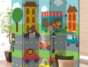 Αυτοκινητάκια Παιδικά Παραβάν 80 x 180 εκ. [Δίφυλλο]