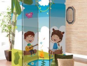 Παιδικά Τραγουδάκια Παιδικά Παραβάν 80×180 cm [Δίφυλλο]