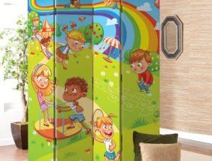 Ουράνια Τόξα Παιδικά Παραβάν 80×180 cm [Δίφυλλο]