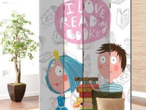 Αγαπώ Να Διαβάζω Βιβλία Παιδικά Παραβάν 80 x 180 εκ. [Δίφυλλο]