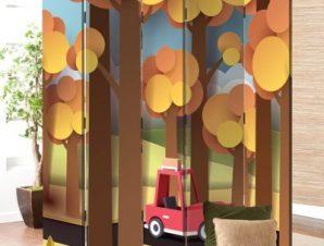 Βόλτα Στο Δάσος Παιδικά Παραβάν 80 x 180 εκ. [Δίφυλλο]