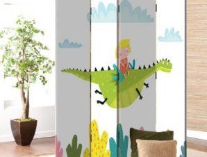 Ιπτάμενος Δεινόσαυρος Παιδικά Παραβάν 80×180 cm [Δίφυλλο]