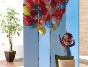 Πετάω Με Μπαλόνια Παιδικά Παραβάν 80×180 cm [Δίφυλλο]