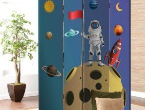 Αστροναύτης Στο Φεγγάρι Παιδικά Παραβάν 80×180 cm [Δίφυλλο]