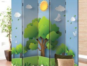 Φύση Παιδικά Παραβάν 80×180 cm [Δίφυλλο]