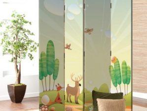 Ζωάκια στο δάσος Παιδικά Παραβάν 80×180 cm [Δίφυλλο]