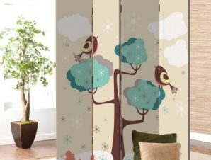 Πουλάκια σε δέντρο Παιδικά Παραβάν 80×180 cm [Δίφυλλο]