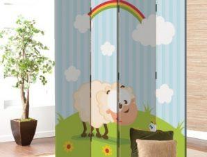Μίκρό πρόβατο Παιδικά Παραβάν 80×180 cm [Δίφυλλο]