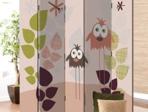 Πουλιά και λιβελούλες Παιδικά Παραβάν 80 x 180 εκ. [Δίφυλλο]