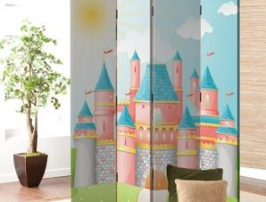Παραμυθένιο κάστρο Παιδικά Παραβάν 80 x 180 εκ. [Δίφυλλο]