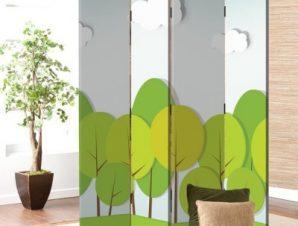 Δάσος Παιδικά Παραβάν 80 x 180 εκ. [Δίφυλλο]