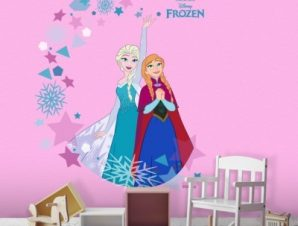 Elsa & Anna, Frozen Παιδικά Αυτοκόλλητα τοίχου 46 x 54 εκ.