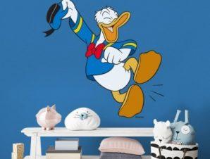 Χαρούμενος Donald Duck!! Παιδικά Αυτοκόλλητα τοίχου 50 x 49 εκ.