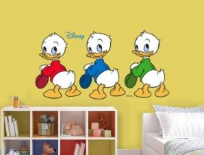 Happy Ducks Παιδικά Αυτοκόλλητα τοίχου 67 x 34 εκ.